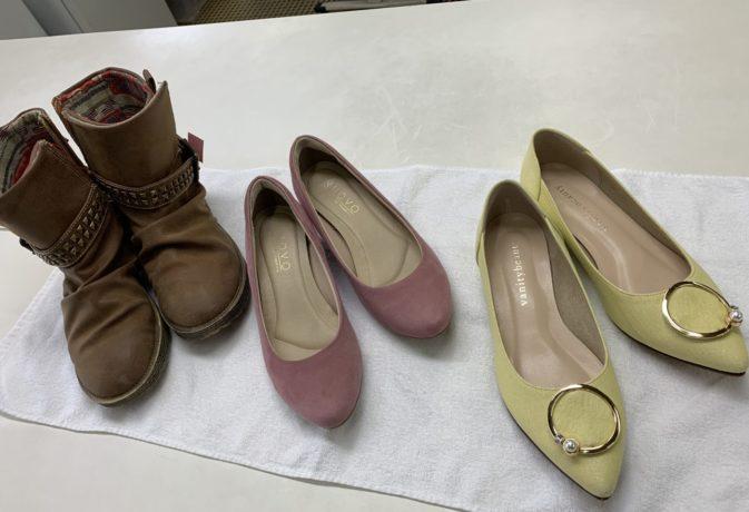 パンプス・革靴もクリーニング